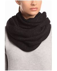 BOSS Orange | Black Scarf 'ivorina' In Alpaca Blend | Lyst
