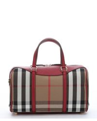 5bcb33770651 Women s Red Brown Leather And House Check Canvas Medium  alchester  ...