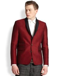 DSquared² - Red Shawl Collar Jacket for Men - Lyst
