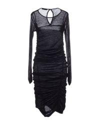Pinko - Black Knee-length Dress - Lyst
