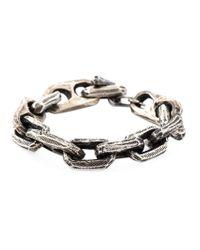 Henson - Metallic Etched Chain Bracelet for Men - Lyst