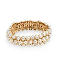 Anne Klein - Metallic Elysium Ii Faux Pearl Bracelet - Lyst