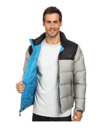 The North Face | Gray Nuptse Jacket for Men | Lyst