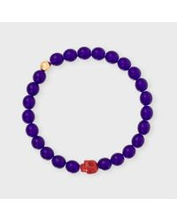 Paul Smith | Purple Men's Violet Beaded Skull Bracelet for Men | Lyst