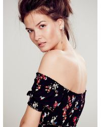 Free People - Black Womens Carrie's Off The Shoulder Top - Lyst
