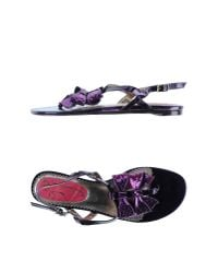 Poetic Licence - Purple Toe Strap Sandal - Lyst