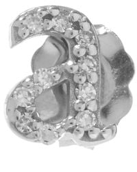 KC Designs | Metallic White Gold Diamond A Single Stud Earring | Lyst