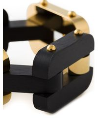 Fendi - Black Chains Bracelet - Lyst