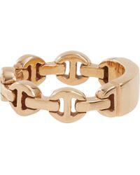 Hoorsenbuhs - Metallic Rose Gold Monogram Dame Tri-Link Ring - Lyst