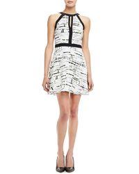 Parker | White Nika Printed Silk Dress | Lyst