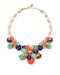 kate spade new york | Multicolor Multistone Bib Necklace | Lyst