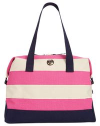 Tommy Hilfiger - Red Th Duffles Woven Rugby Stripe Weekender - Lyst