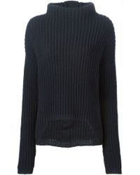 Rick Owens - Blue High Low Sweater - Lyst