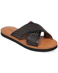 Lucky Brand | Black Women's Dadeen Cross Band Flat Sandals | Lyst