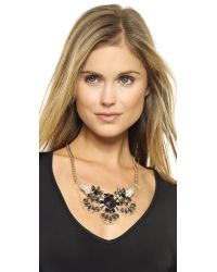 Adia Kibur - Metallic Crystal Necklace - Black/Gold - Lyst