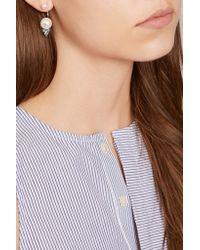 Delfina Delettrez   Blue 18-karat Gold Multi-stone Earring   Lyst