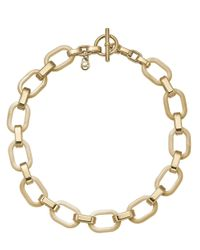 Michael Kors - Metallic Goldtone Horn Acetate Link Necklace with Toggle Closure - Lyst