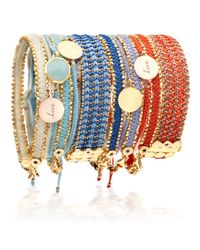 Astley Clarke | Blue Coral Reef Wide Woven Biography Bracelet | Lyst