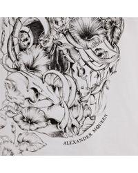 Alexander McQueen - White Still Life Skull Print Boxy Tshirt - Lyst