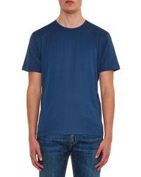 Sunspel | Blue Crew-Neck Jersey T-Shirt for Men | Lyst