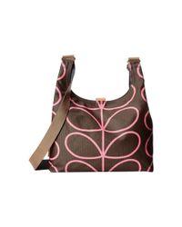 Orla Kiely | Pink Midi Sling Bag | Lyst