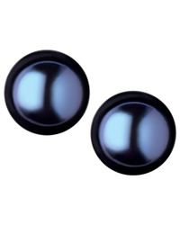 Links of London | Black Effervescence Large Frehswater Pearl Stud Earrings | Lyst
