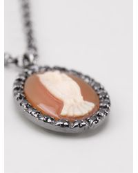 Amedeo - Metallic Owl Pendant Necklace - Lyst