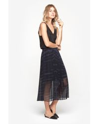 Raquel Allegra - Blue Pleated Skirt - Lyst