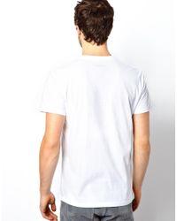 DIESEL | White Tshirt Tlappa Foil Logo for Men | Lyst