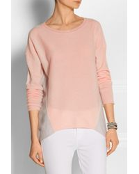 Duffy - Pink Two-Tone Cashmere Sweater - Lyst