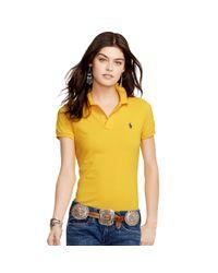 Polo Ralph Lauren - Metallic Skinny-fit Polo Shirt - Lyst