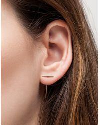 Kathleen Whitaker - Metallic Staple & Loop Earring - Lyst