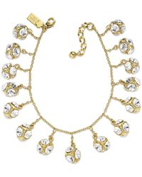 kate spade new york - Multicolor New York Goldtone Crystal Ball Charm Bracelet - Lyst
