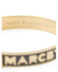 Marc By Marc Jacobs - Metallic Logo Bangle - Lyst