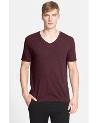 ATM - Purple Slub V-neck T-shirt for Men - Lyst