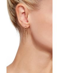 Lauren Klassen - Metallic Paperclip Earrings - Lyst