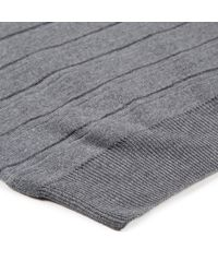 Sunspel | Gray Men's Fine Merino Jumper With Textured Stripe In Mid Grey Melange for Men | Lyst
