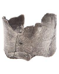 Alice Waese | Metallic 'bark' Cuff for Men | Lyst