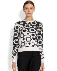 J.W.Anderson | Black Intarsia Sequin Sweater | Lyst