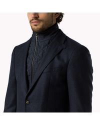 Tommy Hilfiger | Blue Wool Fitted Blazer for Men | Lyst
