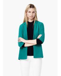 Mango | Green Unstructured Flowy Blazer | Lyst