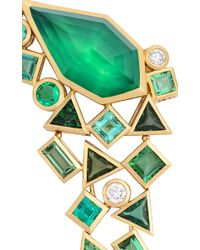 Stephen Webster | Gold Struck Crystal Haze Long Green Agate Quartz Earrings | Lyst