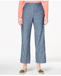 Eileen Fisher | Blue Cropped Ankle Pants | Lyst