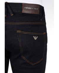 Emporio Armani   Blue Slim Fit Black Wash Jeans for Men   Lyst