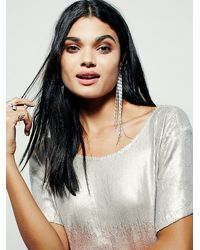 Free People - Metallic Drenched In Sequins Mini Dress - Lyst