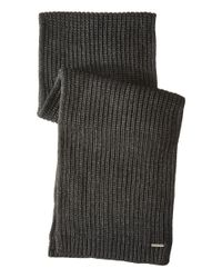 MICHAEL Michael Kors | Gray Half Cardigan Stitch Muffler for Men | Lyst