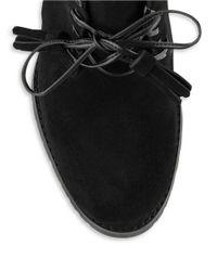 Lauren by Ralph Lauren | Black Carla Suede Ankle Boots | Lyst