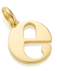 Monica Vinader - Metallic Gold-plated Alphabet Pendant E - Lyst