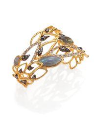 Alexis Bittar | Blue Elements Phoenix Labradorite & Crystal Asymmetrical Rocky Cuff Bracelet | Lyst