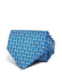 Ferragamo - Blue Fox With Bow Tie Classic Tie for Men - Lyst